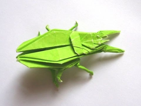Origami Ground Beetle By John Montroll Part 1 Of 3
