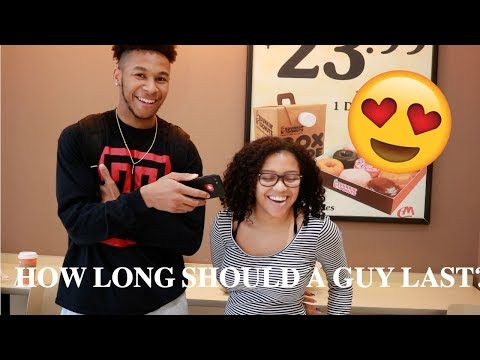 HOW LONG SHOULD A GUY LAST IN BED? PUBLIC INTERVIEW (MENLO MALL)
