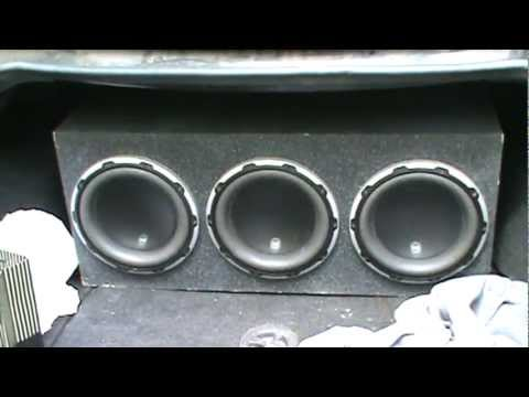 2004 Cadillac Cts With 3 Jl Audio System 10w6v2 Subwoofers