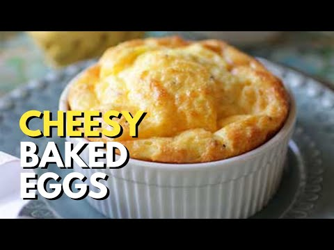 Cheesy Baked Eggs For One
