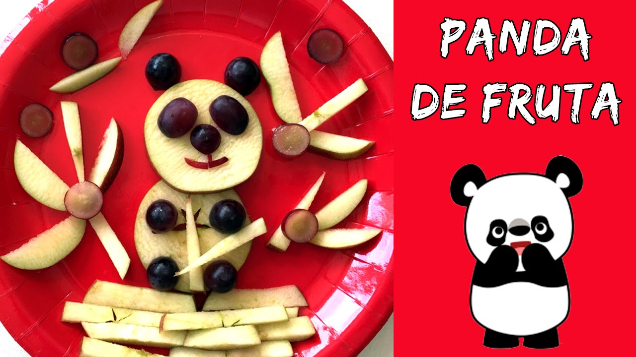Oso panda de fruta meriendas faciles para ni os youtube - Platos originales y faciles de hacer ...