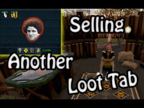 Runescape 3 - Selling My Current Loot Tab L Updates