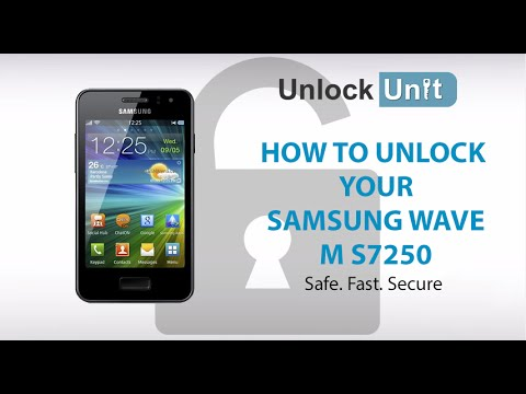 UNLOCK SAMSUNG WAVE M S7250 - HOW TO UNLOCK YOUR SAMSUNG WAVE M S7250