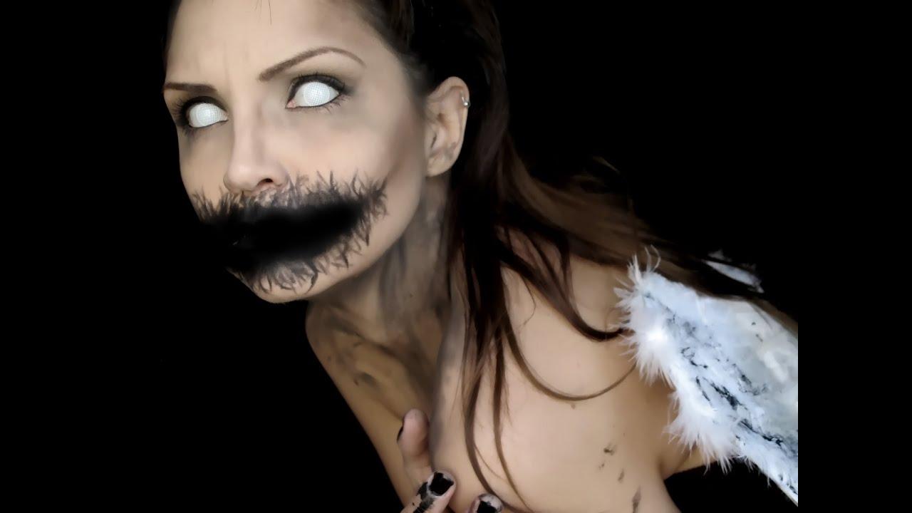 maquillaje de angel caido