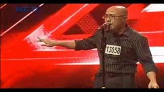 "SYAHROEL SINGING ""JUST A GIGOLO"" ON X FACTOR INDONESIA AUDITION 2012"