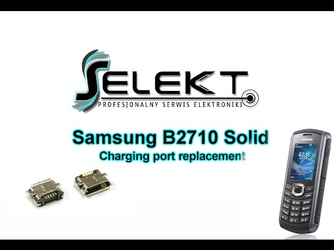 Samsung B2710 Solid Charging Port Replacement / Wymiana złącza ładowania | Selekt