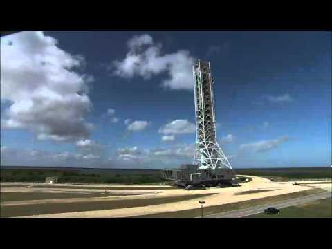 Time-Lapse: Mobile Launcher Moves to Launch Pad