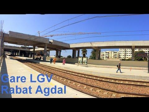 Gare LGV Rabat Agdal en construction 2017  الرباط أكدال