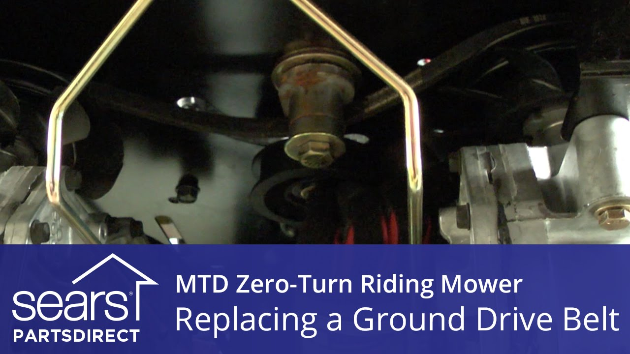 How To Replace An Mtd Zero Turn Riding Mower Ground Drive Belt Youtube Lawn Mowers Diagram For Assembling And