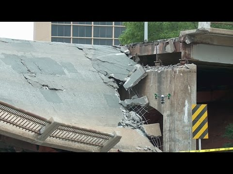 CLOSE-UP: Part of OKC bridge over Northwest Expressway collapses, as per officials