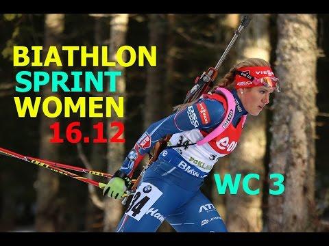 BIATHLON WOMEN SPRINT 16.12.2016  World Cup 3 NOVE MESTO(Czech Republic)