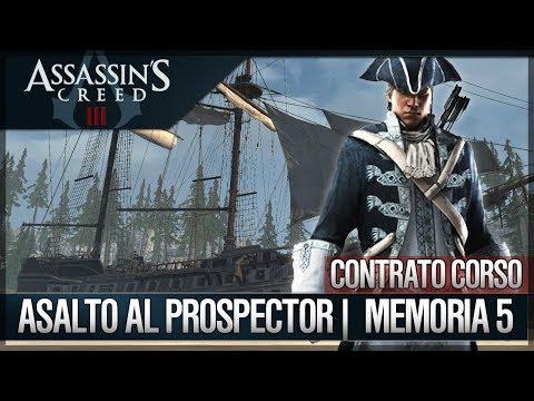 Assassin's Creed 3 - Walkthrough Español - Contratos Corso - Asalto al prospector [5] [100%]