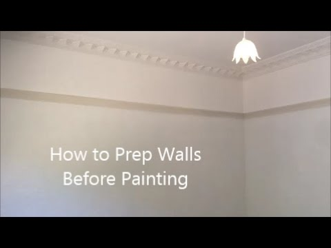 How to prepare internal walls before painting youtube for Clean walls before painting