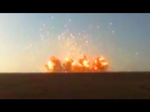 Massive Explosion Shockwave Hits Camera