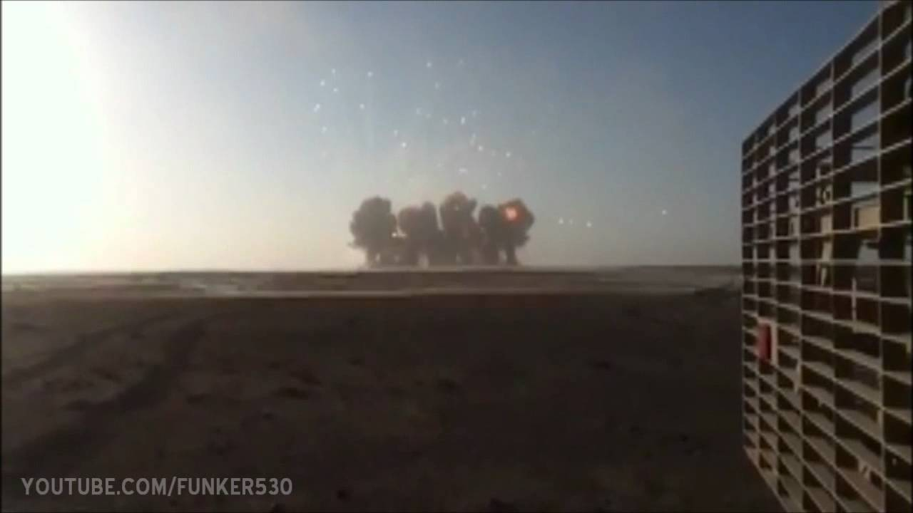 Massive Explosion Shockwave Hits Camera