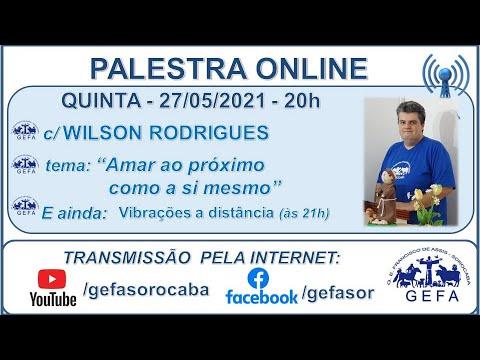 Assista: Palestra Online - c/ WILSON RODRIGUES JR. (27/05/2021)