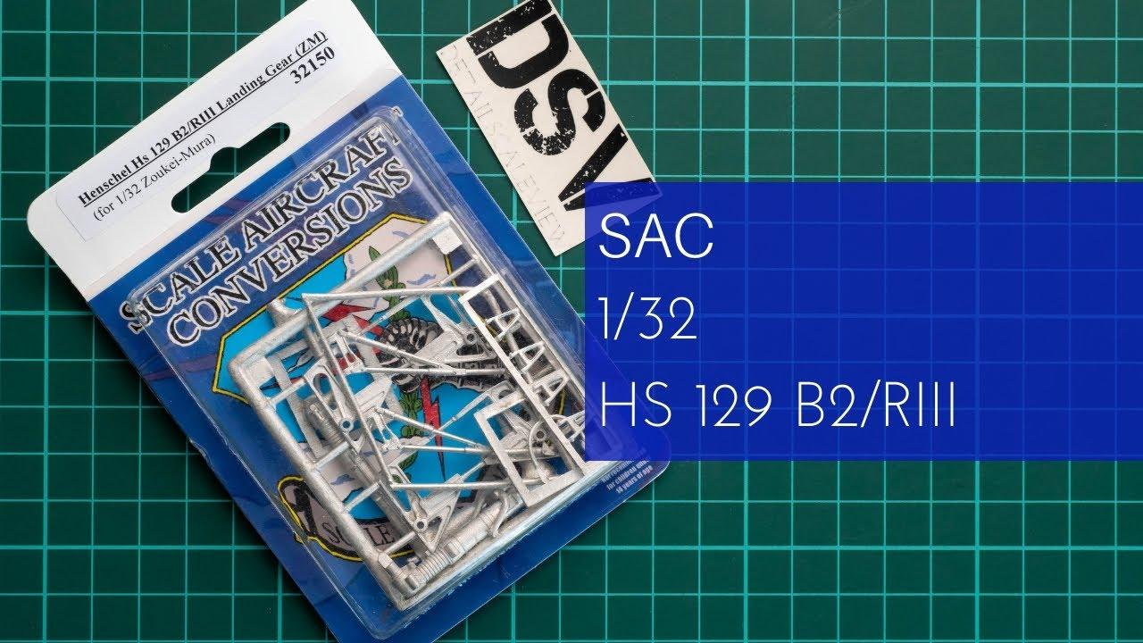 # 32150 ZM Sac 1//32 Henschel Hs-129B2//RIII Landing Gear