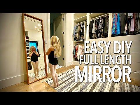 Easy DIY Full Length Mirror Frame