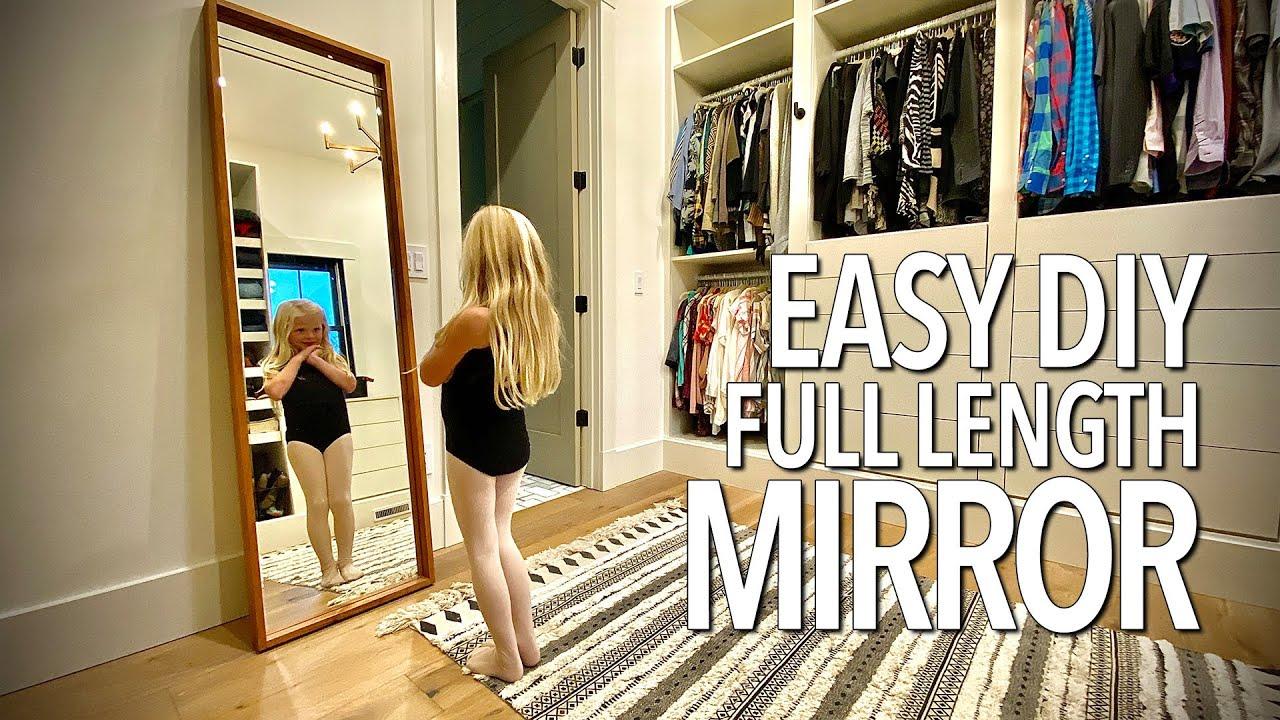 Easy Diy Full Length Mirror Frame Youtube