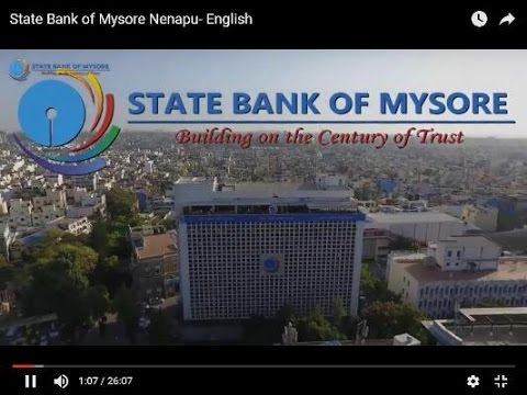 State Bank of Mysore Nenapu- Kannada