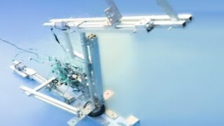 Самодельный робот манипулятор на линейных приводах