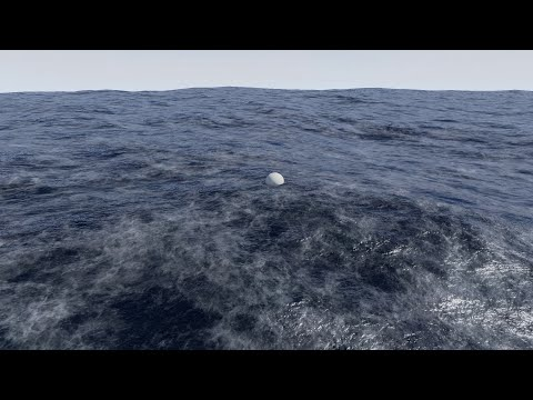 Unreal Engine 4 Physical Ocean Surface: Water Shader with Buoyancy