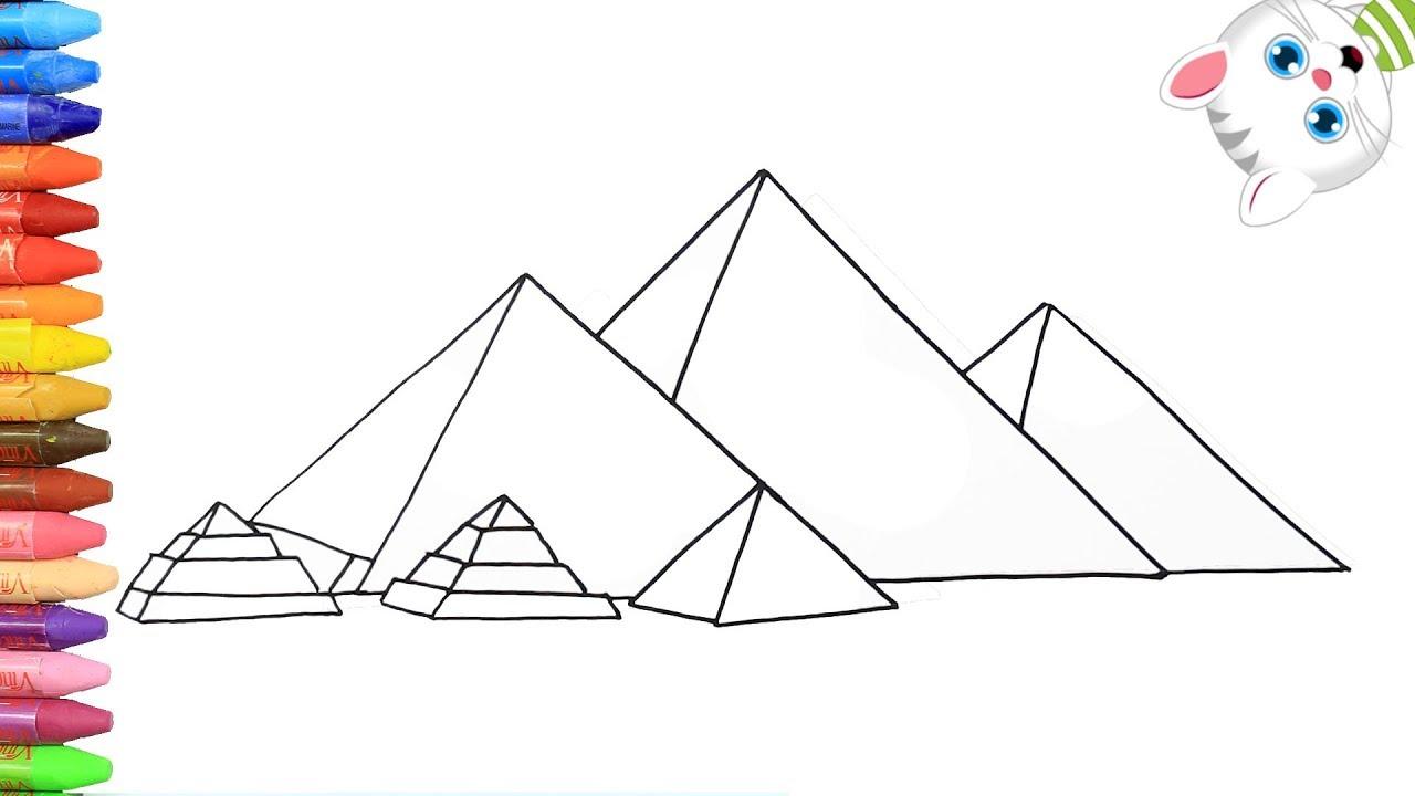 Satin Al 5 Adet Takim Cerceveli Hd Baskili Misir Piramitleri