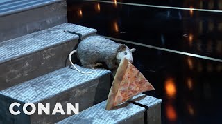WashedUp Celebrity Pizza Rat Makes A #ConanNYC Cameo   CONAN on TBS