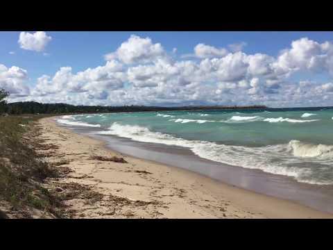 Waves Rolling in on Sleeping Bear Bay - Glen Arbor, MI - 9/29/17
