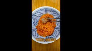 맛있는 비빔국수 만들기(1분요리)