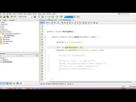 SubString And Split Functions In Java
