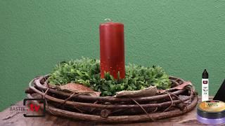 Kerzen färben mit Inka Gold und Kerzenwachspen