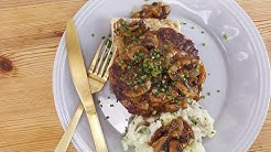 "Rachael's ""Retake on Salisbury Steak"" Knife & Fork Burgers"