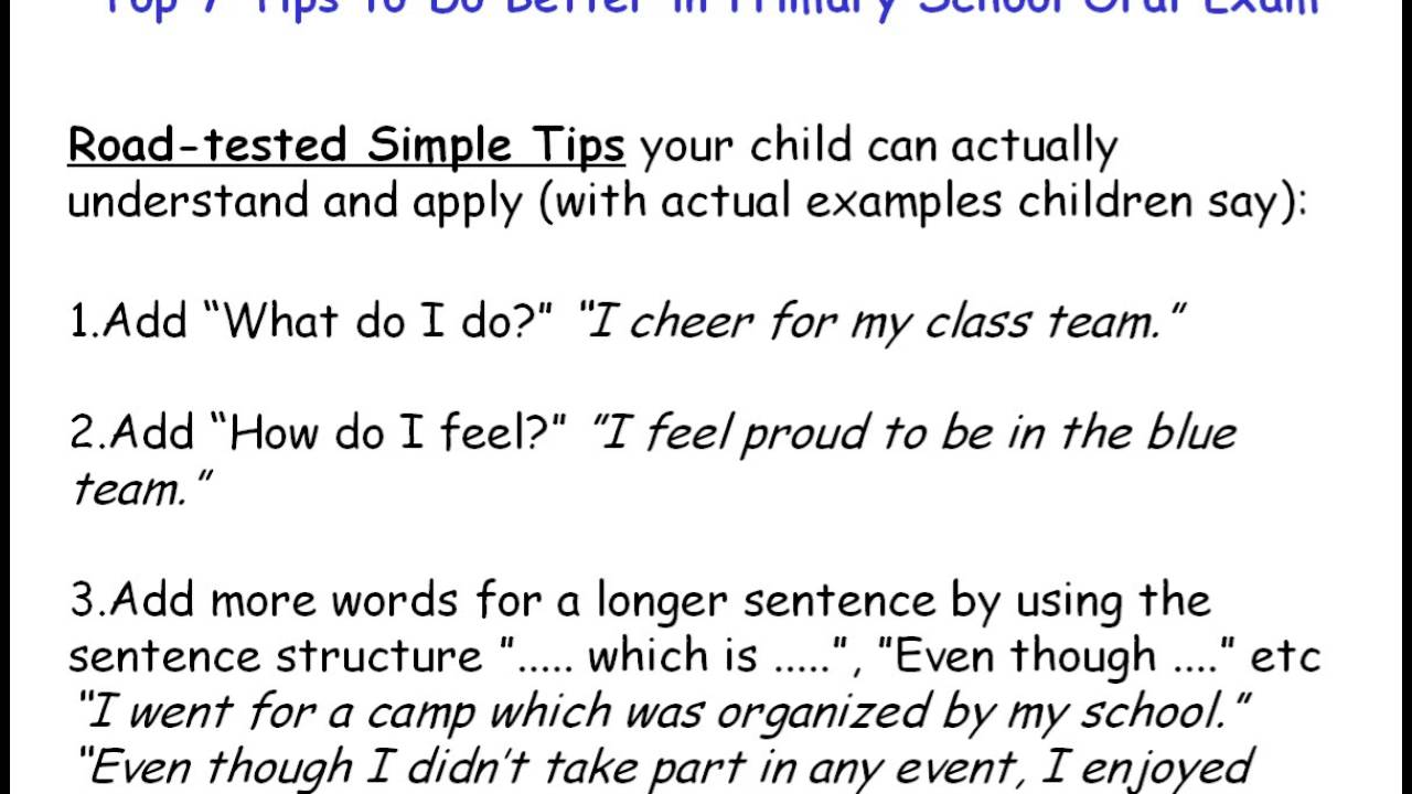 Tips on how to do better a school, please?