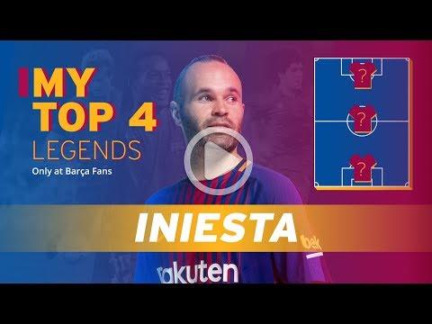 ANDRÉS INIESTA   MY TOP 4 (LEGENDS)