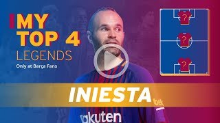 ANDRÉS INIESTA | MY TOP 4 (LEGENDS)