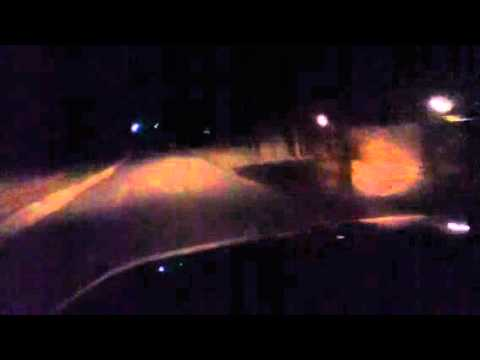 Aircraft landing lights on Jeep