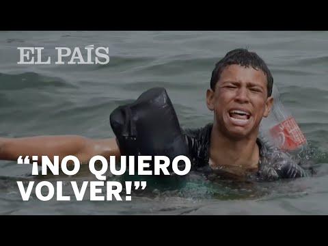"Un joven inmigrante, entre sollozos, a un militar español: ""¡Traten de entendernos"""