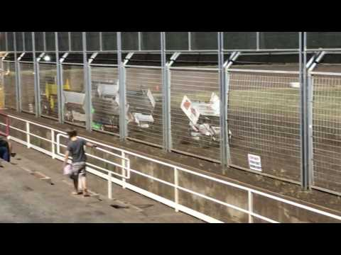 Tanners First Sprint Car Race @ Southern Oregon Speedway