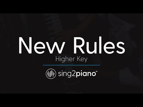 New Rules [HIGHER Piano Karaoke] Dua Lipa