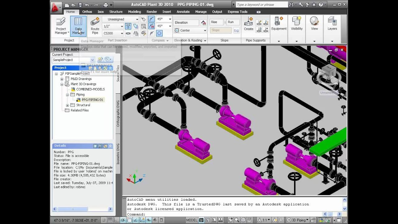 projects in autocad plant 3d youtube