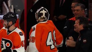 Fans boo refs for ruining feel-good moment for Flyers back-up goalie