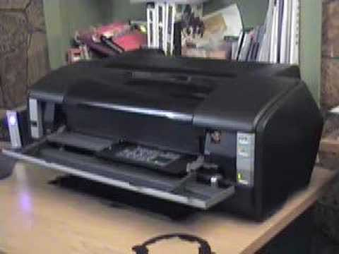 Epson 1400 CD/DVD Printing - YouTube