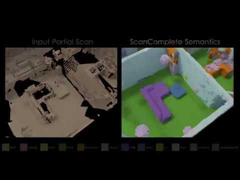 ScanComplete: Large-Scale Scene Completion and Semantic Segmentation for 3D  Scans (CVPR 2018)