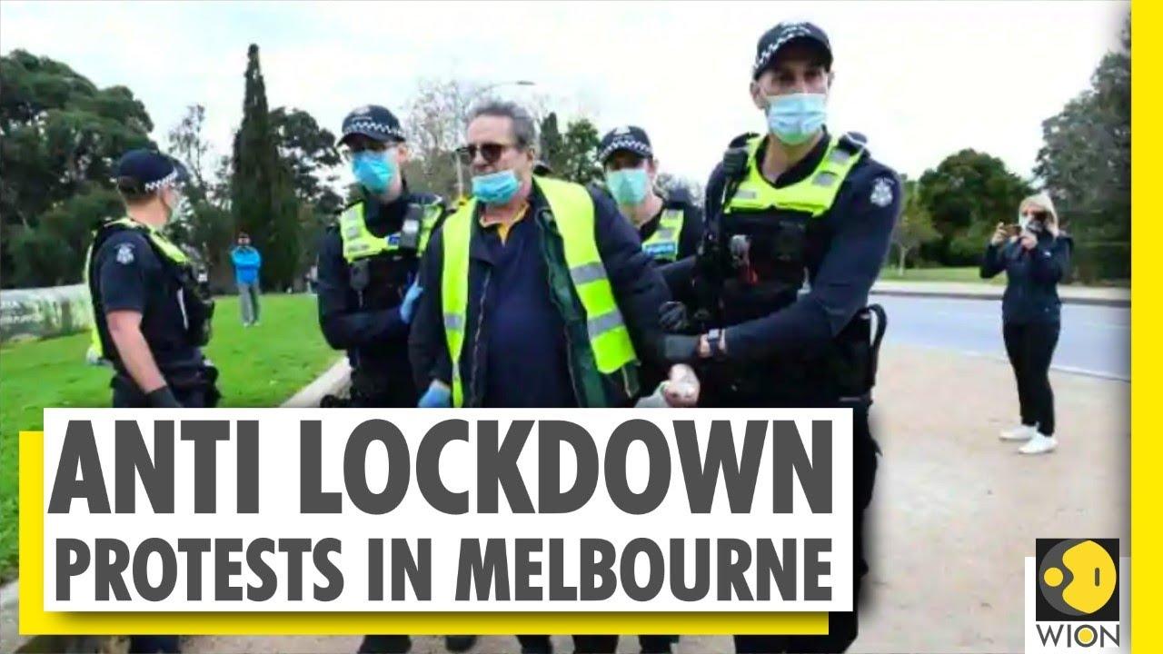 Protests Against Coronavirus Lockdown Erupt In Melbourne Covid 19 Australia World News Wion Youtube