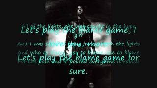 Kanye West ft. John Legend- Blame Game Lyrics on Screen HD