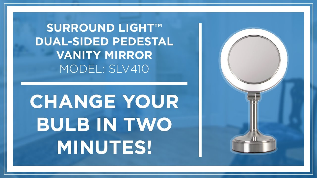 How To Zadro Surround Light Dual Sided Pedestal Vanity