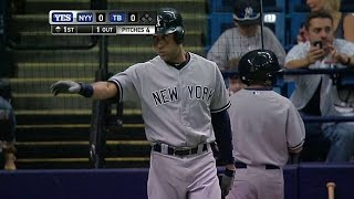 NYY@TB: Jeter receives ovation prior to first at-bat