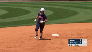 Auburn Softball at Chattanooga Highlights Game 1