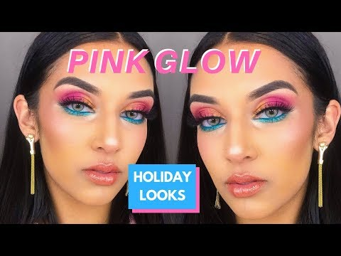 PINK GLOW & RADIANT SKIN TUTORIAL | Ft. Mecca Holiday Products